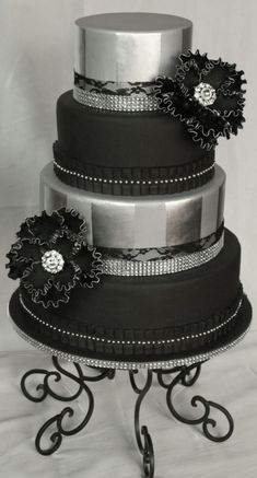 I created this cake a while back and never shared it. Has a ton of bling.