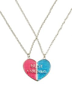 Bff Magnetic Heart Necklaces | Girls Accessories Clearance | Shop Justice
