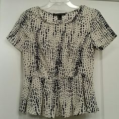 Blouse Peplum blouse. Side zipper, very light and perfect for summer. It looks brand new. Tops Blouses