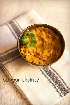 baingan chutney recipe with step by step pics. simple, easy and quick chutney made with baingan. preparation of baingan chutney is similar to baingan bharta,
