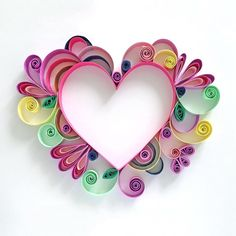 Paper Hearts Art - The Beauty Of Paper Quilling Art Arte Quilling, Paper Quilling Cards, Quilled Paper Art, Diy Paper, Paper Crafting, Quilling Instructions, Paper Quilling Tutorial, Paper Quilling Patterns, Quilling Ideas