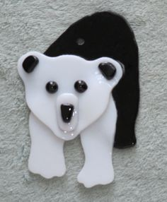 Glass Fused Panda Bear