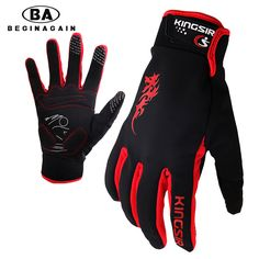 BEGINAGAIN 2017 Long Finger Cycling Glove Gel Touch Screen MTB Bicycle Gloves For Man BMX DH Bike Road Motocross Thicken Glove