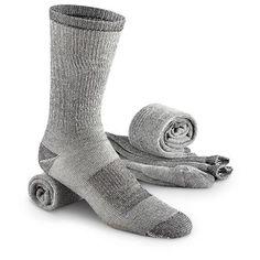 Merino Wool Blend Crew Socks, 3 Pairs