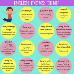 """Common phrases and idiomatic expressions related to """"jump""""..."""
