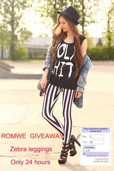 the winner of leggings :Melanie Williams,the link is http://www.pinterest.com/itsmellybitch/ please send me an email to romwe.pinterest@g... with this post link and your Romwe account in 5 days. ♥