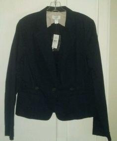 NWT New Ann Taylor Loft Womens Dark Blue Blazer Coat Suit Jacket Sz Button  #AnnTaylorLOFT #Blazer
