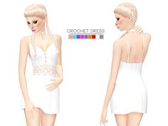 Sims 4 CC's - The Best: Crochet Dress by Itsleeloo
