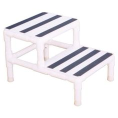 PVC Step Stool: Need a customized step stool that reaches just the right height. only thing I am wondering about is the actual step material. Canopy Bedroom, Backyard Canopy, Patio Canopy, Canopy Outdoor, Canopy Tent, Diy Pergola, Pergola Plans, Pergola Cover, Canopy Curtains