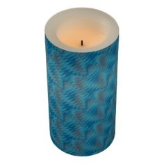 Flameless Candles Turquoise Teal Grey Pattern #zazzle #gifts #decor #trends