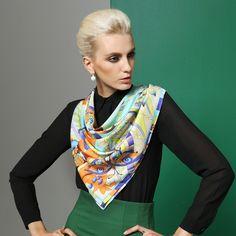 Swallow design twill silk scarf 90x90 women's neckwear BAOSHIDI 1031140311