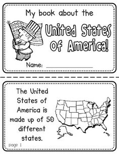 United States Booklet (A Country Study!)-- Use during social studies units about countries around the world! TeachersPayTeachers