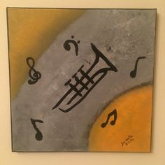 saribelle_inspirational_art's photo on Instagram Playing the Trumpet music abstract art by Saribelle