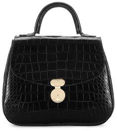 Giorgio Armani Accordéon bag in shiny crocodile leather Crocodile 04920d2dc08f4