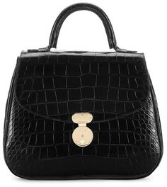 Giorgio Armani Sac Accordéon en cuir de crocodile brillant