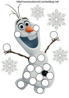 personnage olaf reine des neiges pour les gommettes http://nounoudunord.centerblog.net/4206-reines-des-neiges-pour-les-gommettes