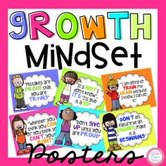 15 Growth Mindset Poster...