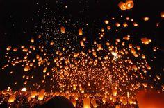 정월대보름 태국 치앙 마이 풍등축제