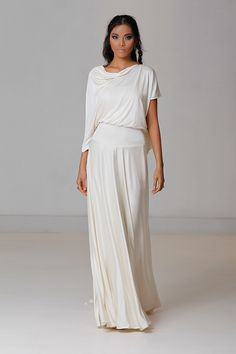 Insanely gorgeous Carol Hannah wedding dresses - Love4Wed An elegant silk jersey draped gown with a dramatic low cowl back