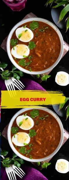 Kitchen Recipes, Cooking Recipes, Egg Curry, Low Sodium Recipes, Indian Food Recipes, Ethnic Recipes, Tasty, Yummy Food, Chutney