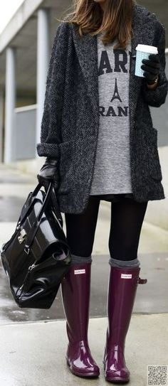 9. Just a Peak - 13 #Fabulous #Streetstyle #Inspired Ways to Wear over the Knee Socks This Fall ... → Streetstyle #Colored