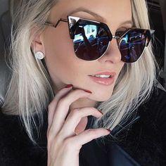 Winla cat eye sunglasses donne nuovo progettista di modo rivestimento  specchi piegatura dei metalli tempio occhiali 0c3b4b313f