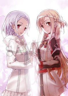 Sword Art Online Ordinal Scale Asuna and Yuna Otaku Anime, Manga Anime, Kunst Online, Online Art, Kirito Sword Art Online, Tous Les Anime, Kirito Asuna, Accel World, Image Manga