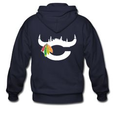 by far one of the coolest Chicago hoodie's I've ever seen, it's got Blackhawks, Bears, and Bulls covered