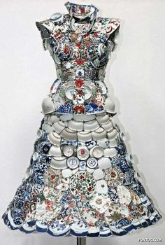 Porcelain Costumes - The Ceramic Fashion  tea cup dress