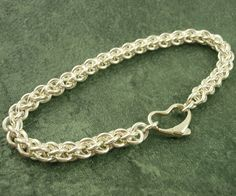 Sterling Silver Bracelet with Heart Clasp - So Cute!