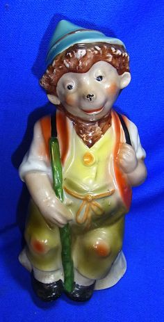 Vintage German Porcelain Perfume Lamp Night Light Mecki Hedgehog #AL
