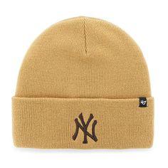 47 Brand Haymaker 47 Cuff kn New York Yankees Cap Wheat