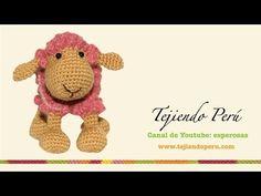 Ovejas tejidas a crochet (amigurumi) Parte 2: tejiendo la cabeza - YouTube
