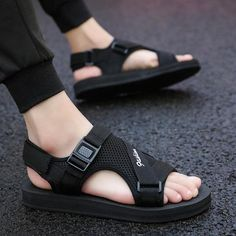 Classic Outdoor Men Sandal Shoes - - Classic Outdoor Men Sandal LAISUMK New Classics Style Men Sandals Outdoor Walking Summer Shoes Anti-Slippery Beach Shoes Men Comfortable Soft. Shoes Flats Sandals, Men's Shoes, Men Sandals, Shoes Men, Male Shoes, Sandals Outfit, Vans, Converse, Teenager Fashion Trends