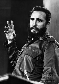 1970年代に撮影された、キューバ共産党のフィデル・カストロ第1書記(当時、撮影日不明)。(c)AFP/PRENSA LATINA