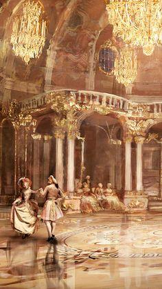 inividia: Beauty and the Beast Concept Art by Karl Simon Rennaissance Art, Gold Aesthetic, Aesthetic Painting, Renaissance Paintings, Princess Aesthetic, Classical Art, Old Art, Pretty Art, Aesthetic Wallpapers