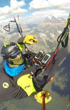 Paraglider Gavin McClurg's essential device is ...