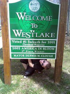 Westlake, Ohio Sign prior to 2011