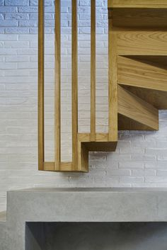 Coffey Architects used traditional Japanese techniques to make the most of space and light in the renovation of this three-metre-wide London mews house Timber Staircase, Staircase Railings, Wooden Staircases, Wooden Stairs, Modern Staircase, Stairways, Staircase Remodel, Spiral Staircase, Interior Stairs
