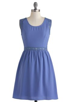 A Literary Time Out Dress. For you, having the time to dive into a new book is always a welcome way to spend an afternoon. #blue #modcloth