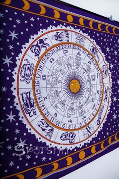 Astrology Tapestry Hippie Tapestries Indian Zodiac by Sparshh Hippie Tapestries, Tapestry, Bohemian Bedspread, Astrology, Zodiac, Signs, Unique Jewelry, Handmade Gifts, Etsy