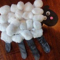 Psalms 23 Handprint Sheep Craft