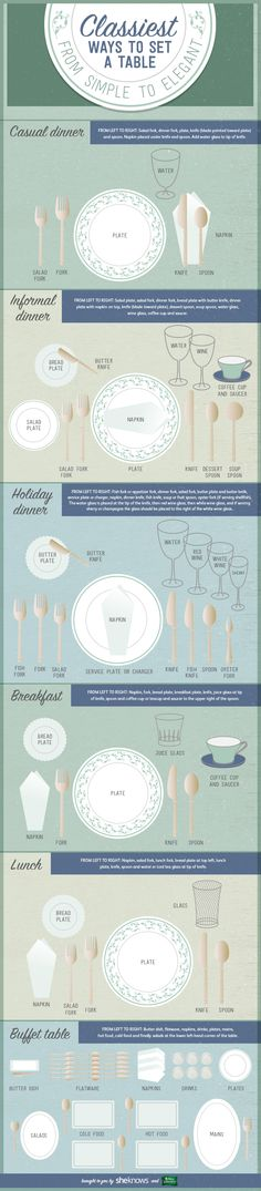 Classiest Ways to Set a Table: From Simple to Elegant  http://www.sheknows.com/food-and-recipes/articles/1096885/how-to-set-a-table