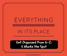 Get Organized from A-Z: X Marks the Spot - Overdue Organizing Organisation Hacks, Small Space Organization, Bathroom Organization, Organizing Ideas, Kitchen Organization, Storage Organization, Getting Rid Of Clutter, Getting Organized, Konmari Method