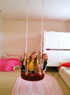Indoor tireswing in Toy room - that would be cool.