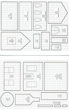 Templates for Putz Houses Gingerbread Gingerbread House Template Printable, Gingerbread House Patterns, Gingerbread House Parties, Gingerbread Village, Christmas Gingerbread House, Christmas Templates, Gingerbread Cookies, Christmas Cookies, Christmas Houses