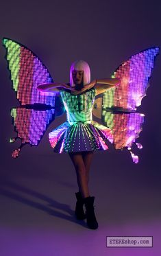Led Light Costume, Led Costume, Costumes, Republic Of Belarus, Led Logo, Led Dress, Show Lights, Fairy Wings, Stage Outfits