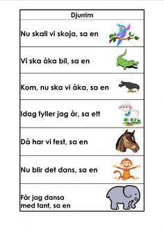 Mariaslekrum - Illustrerade rimramsor. Educational Activities For Kids, Preschool Activities, Preschool Library, Body Preschool, Learn Swedish, Swedish Language, Classroom Inspiration, Kids Writing, Play To Learn