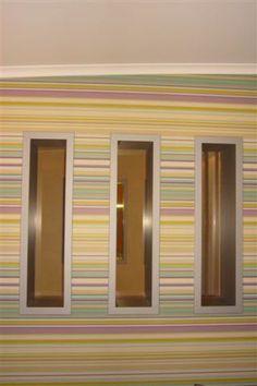 Innenraumgestaltung mit bunten Streifen durch den Betrieb Lumler + Kox in Geldern (47608)   Maler.org