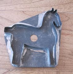 6in x 6in Flatback (no handle) Large Tin Horse Cookie Cutter